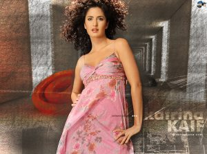 Pink Frock,Curly Hair with Karina kaif