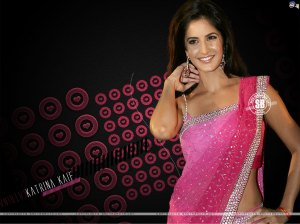 Katrina kaif in Pinks saree looking so great.