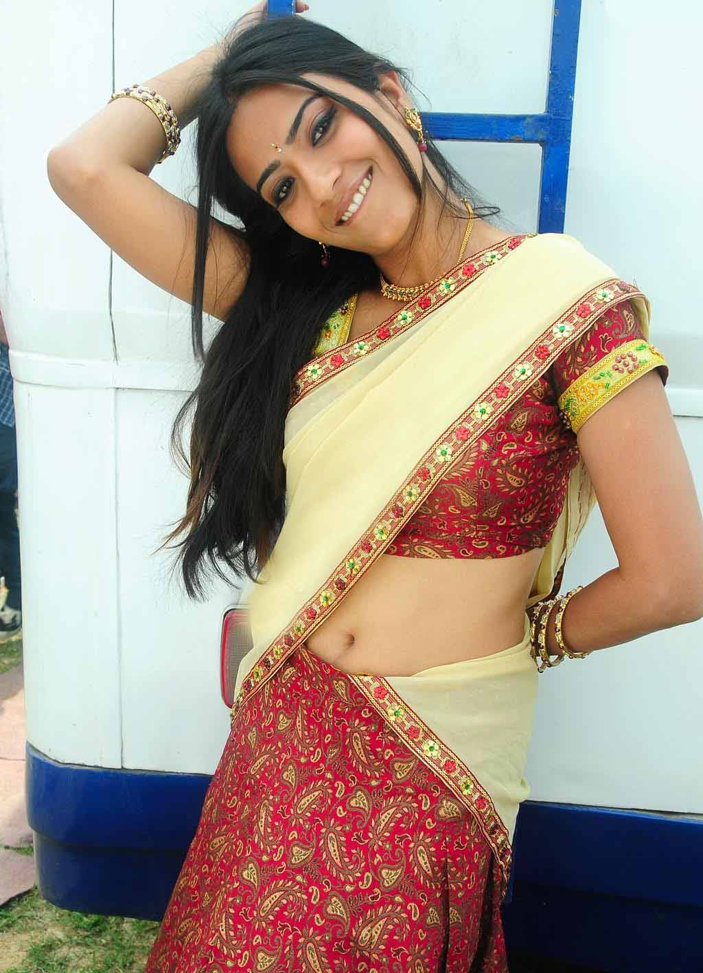 Actress Aditi Sharma In Half Saree  Gpict-1013