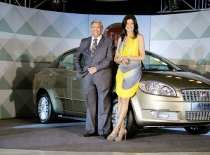 Fiat Linea T Jet launched By 'Sushmita Sen' wallpapers