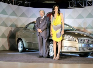 Fiat Linea T Jet launched By 'Sushmita Sen' Photoshoot images