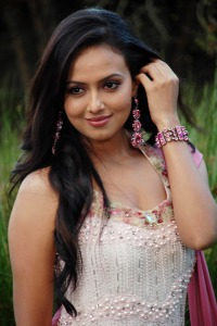 Sana Khan Cute Photo Stills cleavage
