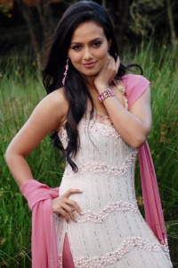 Sana Khan Cute Photo Stills navel show