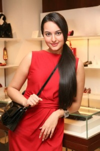 sonakshi sinha looking hot in red dress gallery pictures