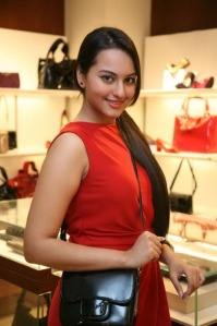 sonakshi sinha looking hot in red dress sexy stills